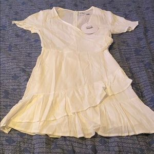 White wrap around dress